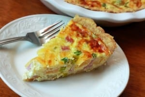 Canadian Bacon and pineapple quiche, The Daring Gourmet