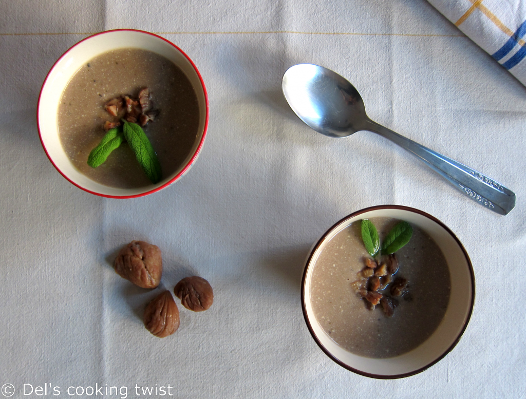 Chestnut soup with sage