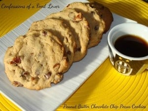 PB chocolate chip pecan cookies, Confessions of a Food Lover