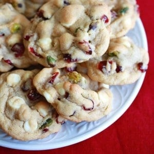 White chocolate cranberry pistachio cookies, The Daring Gourmet