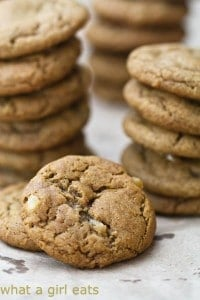 Ginger chip spice cookies, What a Girl Eats