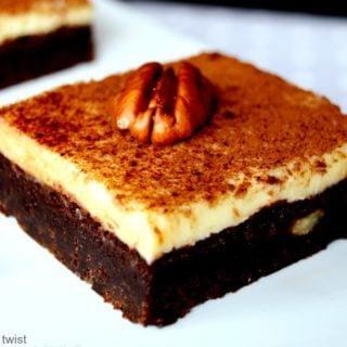 Pecan Brownie Cheesecake