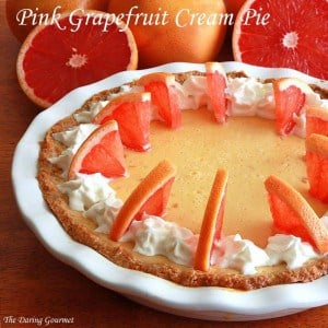 Pink Grapefruit Cream Pie, The Daring Gourmet