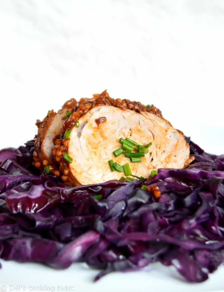 Sauteed Pork Tenderloin with Braised Red Cabbage