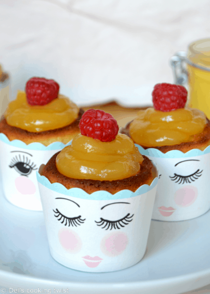 Lemon Curd Raspberry Cupcakes