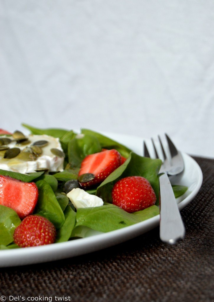 Strawberry Spinach Salad with Lemon Poppy Seed Dressing