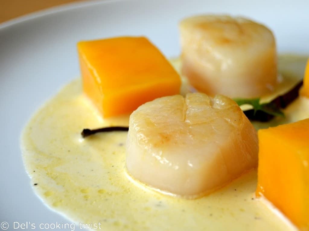 Vanilla Sea Scallops with Mango