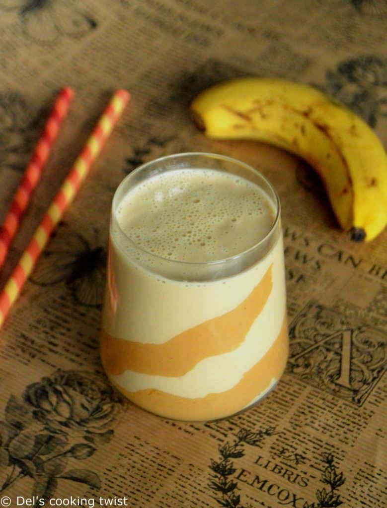 Creamy Peanut Butter and Banana Smoothie