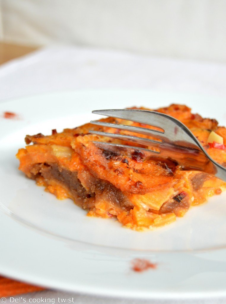 Sweet Potato and Peanut Butter Gratin1