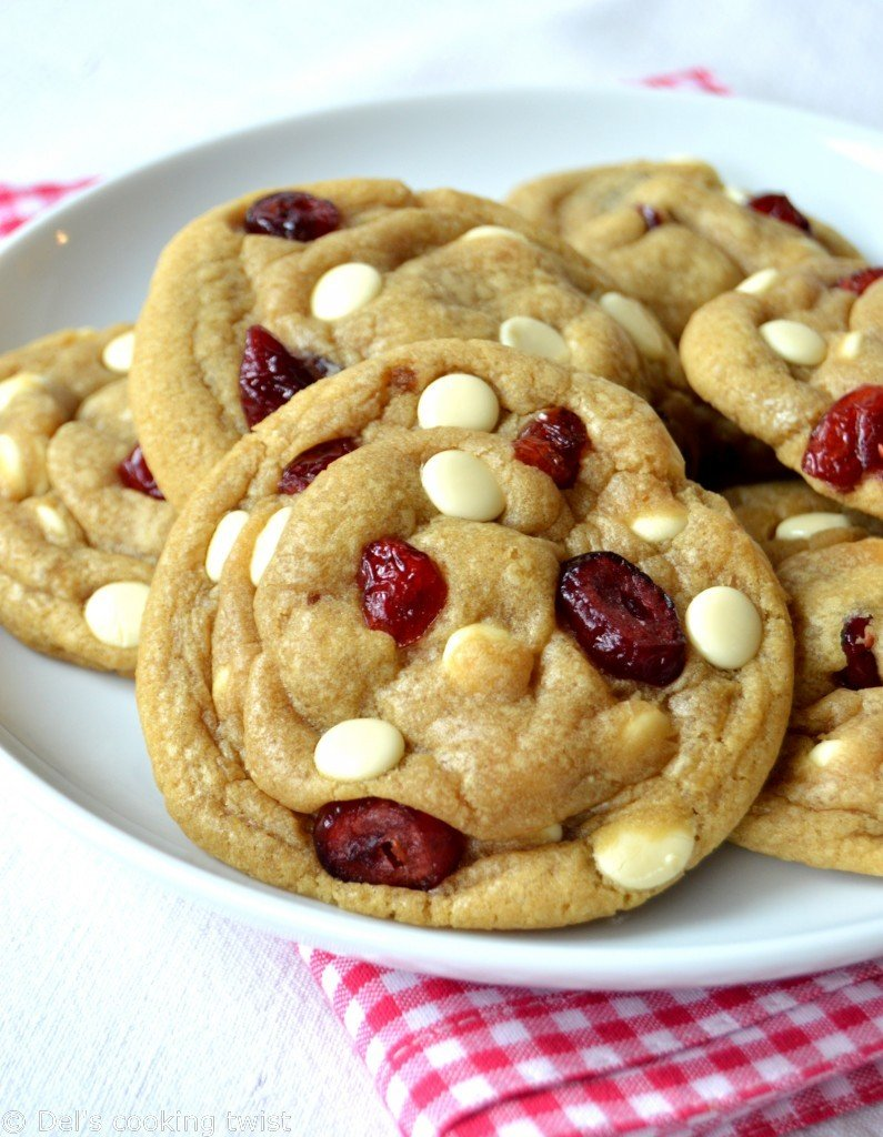 Chocolate Cranberry Cookies In A Jar