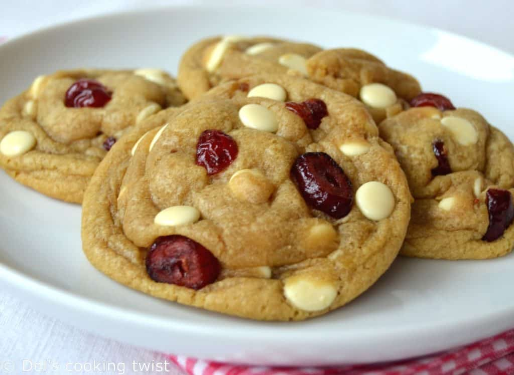 The Best White Chocolate Cranberry Cookies