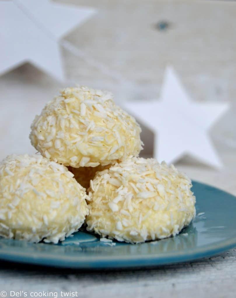 no-bake coconut snowballs