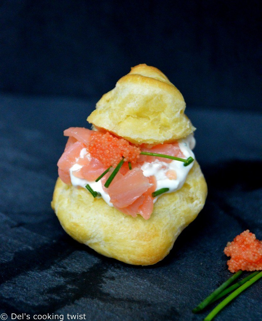 Smoked Salmon Choux Puff