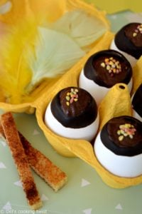 Chocolate Mousse filled Easter Eggs and Cinnamon Fingers