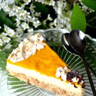 Raw Mango Coco Cheesecake