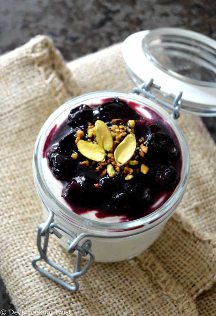 Goat Cheese Mousse with Roasted Blueberries