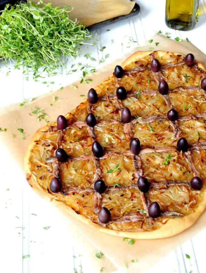 Pissaladière (Caramelized Onion & Anchovy Tart)
