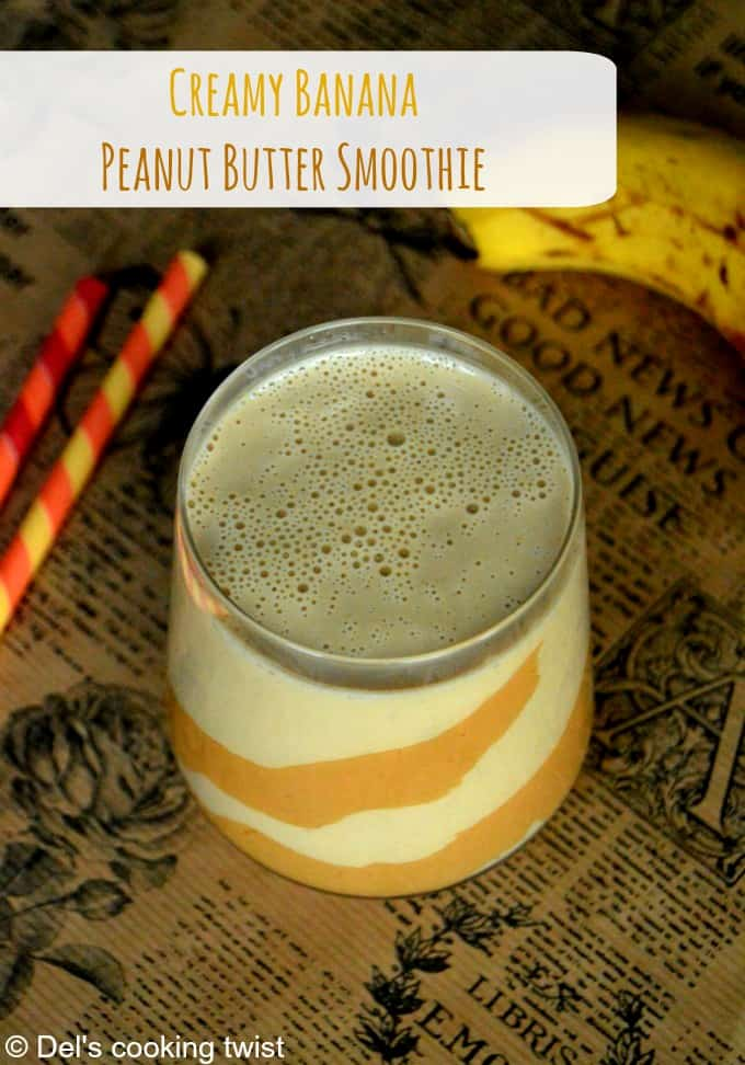 Creamy PB and Banana Smoothie