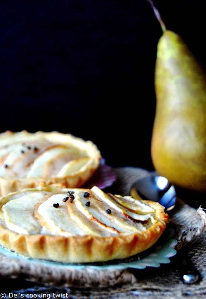 Pear-Apple Frangipane Tartlets with Cardamom