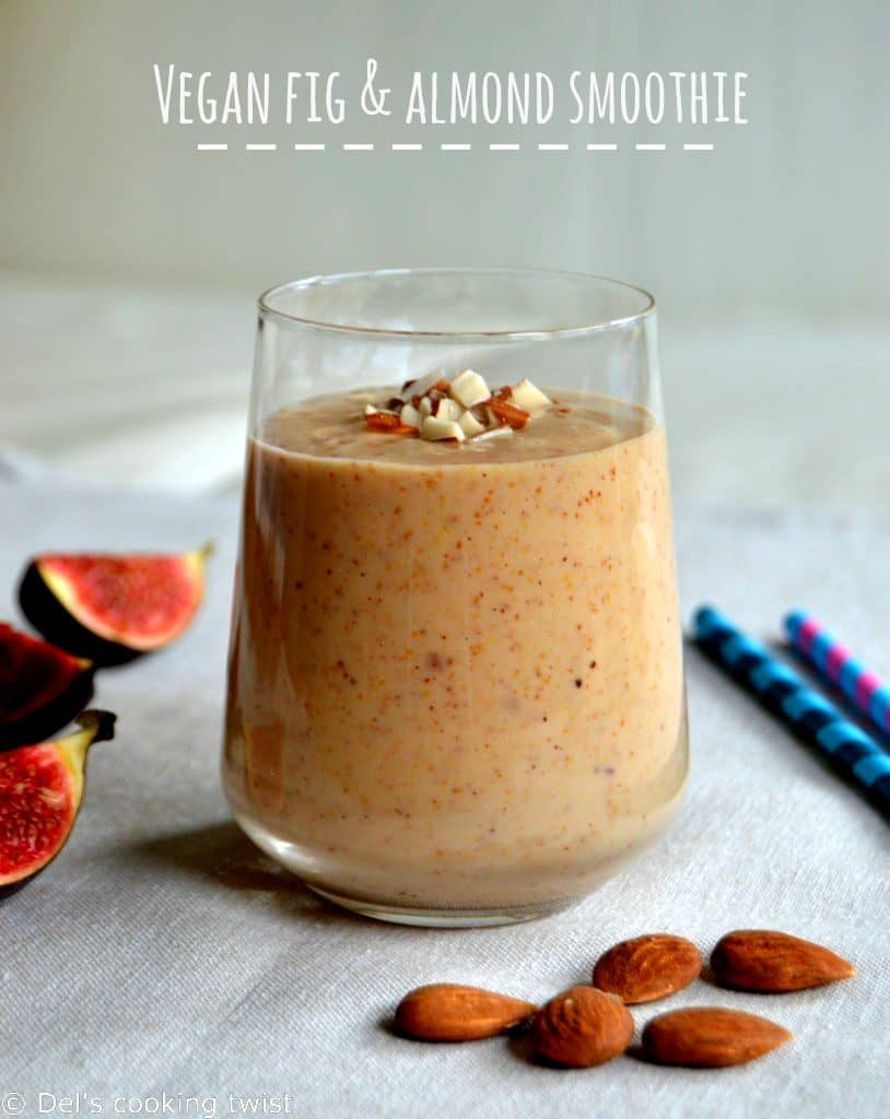 Vegan Fig Almond Smoothie