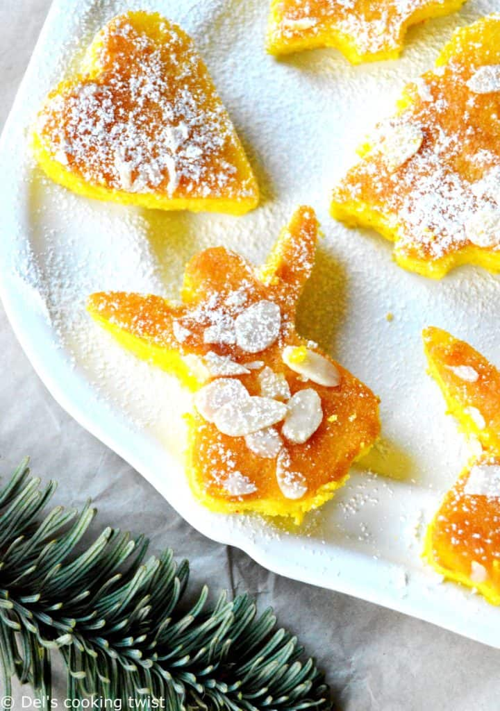 Moist mini orange and saffron cakes