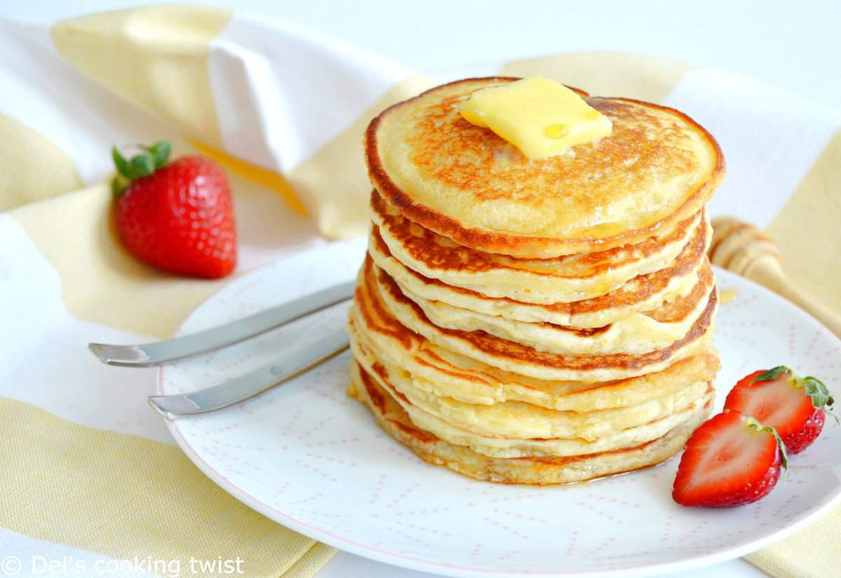 Easy fluffy american pancakes dels cooking twist forumfinder Image collections