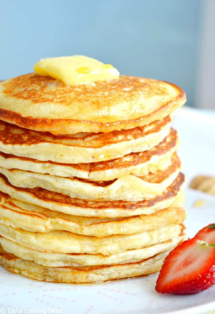Easy fluffy american pancakes dels cooking twist easy fluffy american pancakes ccuart Choice Image