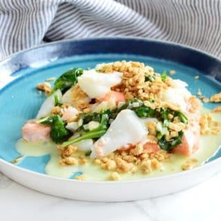 Fish Duo Crumble with a White Wine Shallot Sauce