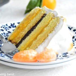 Layer Cake meringué chocolat-mandarine
