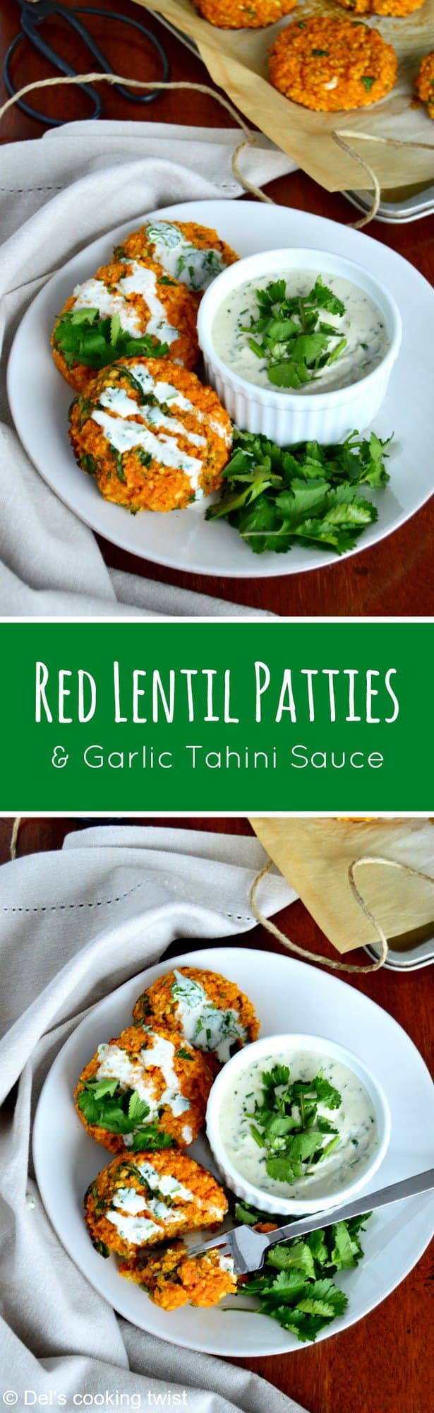 Red Lentil Patties with a Tahini Sauce