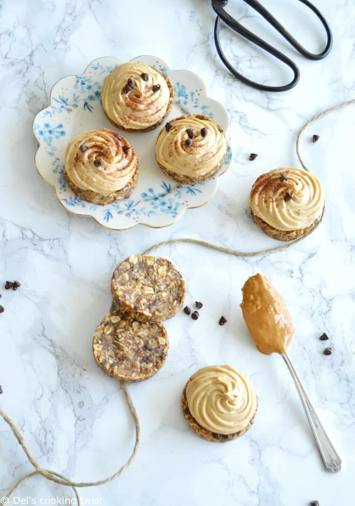 Mini Healthy Peanut Butter Pies