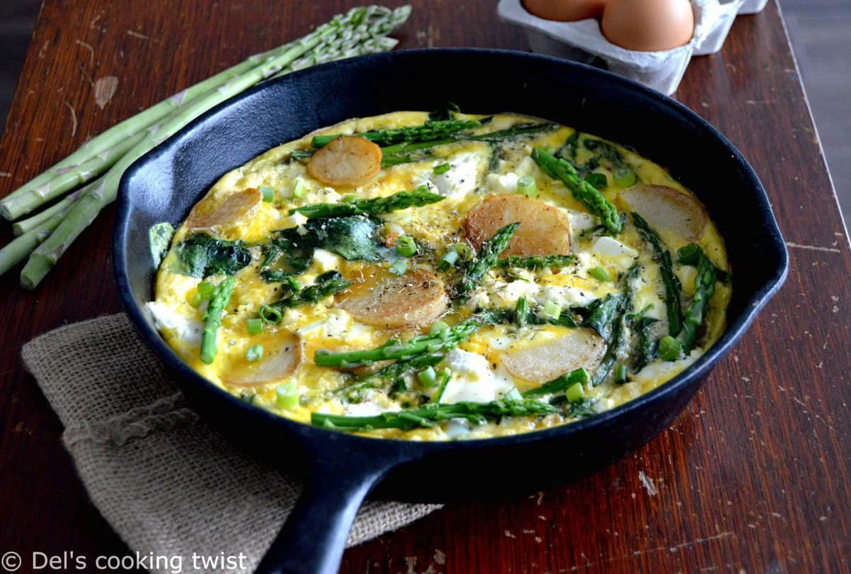 Ricotta Frittata with Spring Vegetables