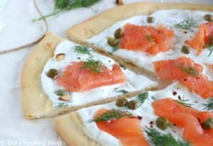 Smoked Salmon Pizza with Capers