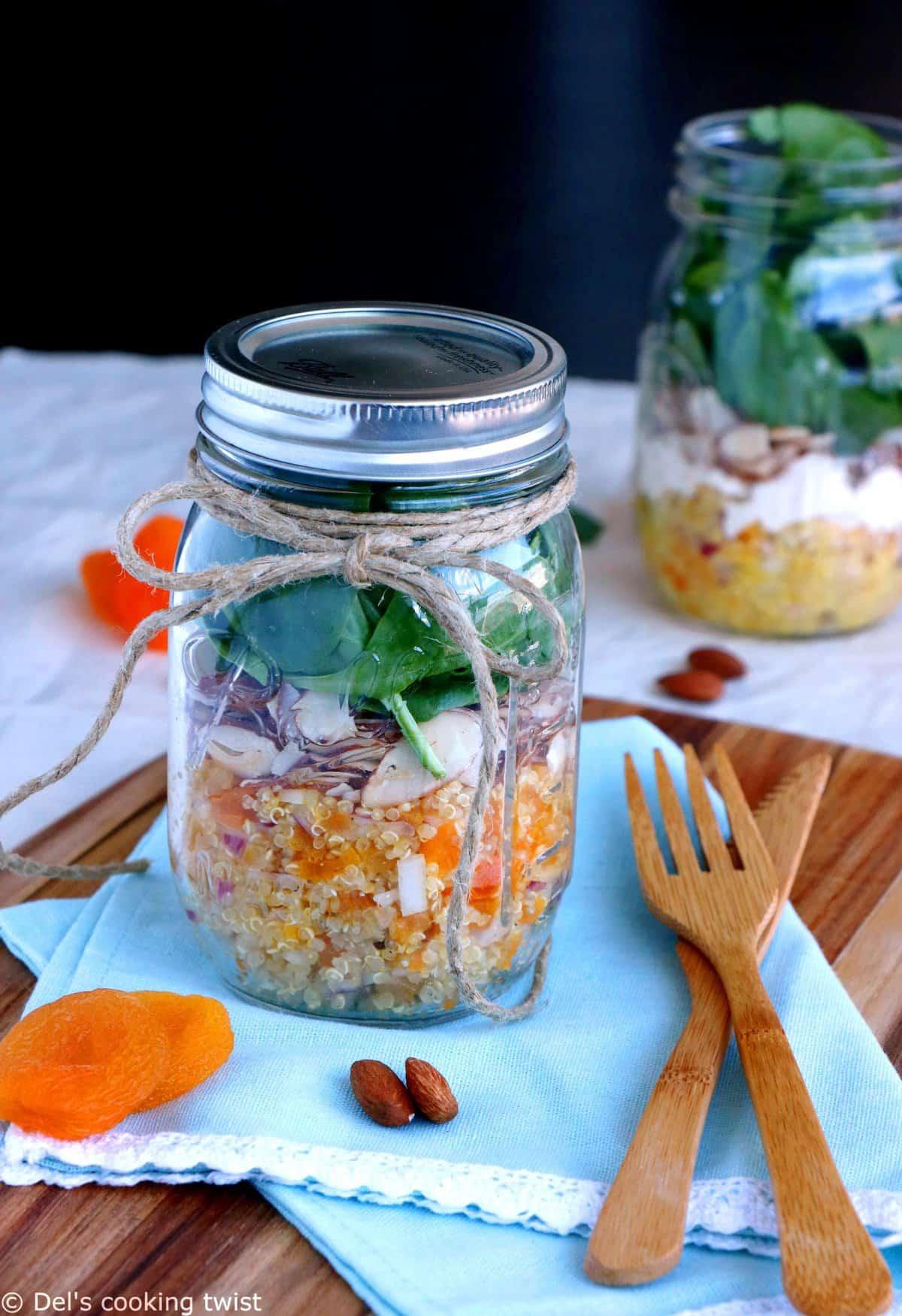 Apricot Quinoa Mason Jar