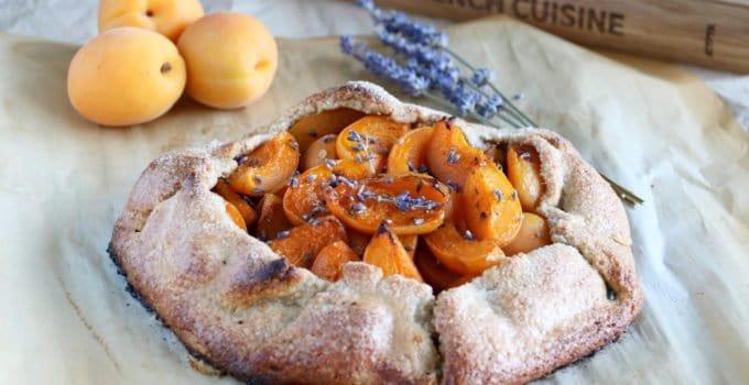 Lavender Apricot Galette