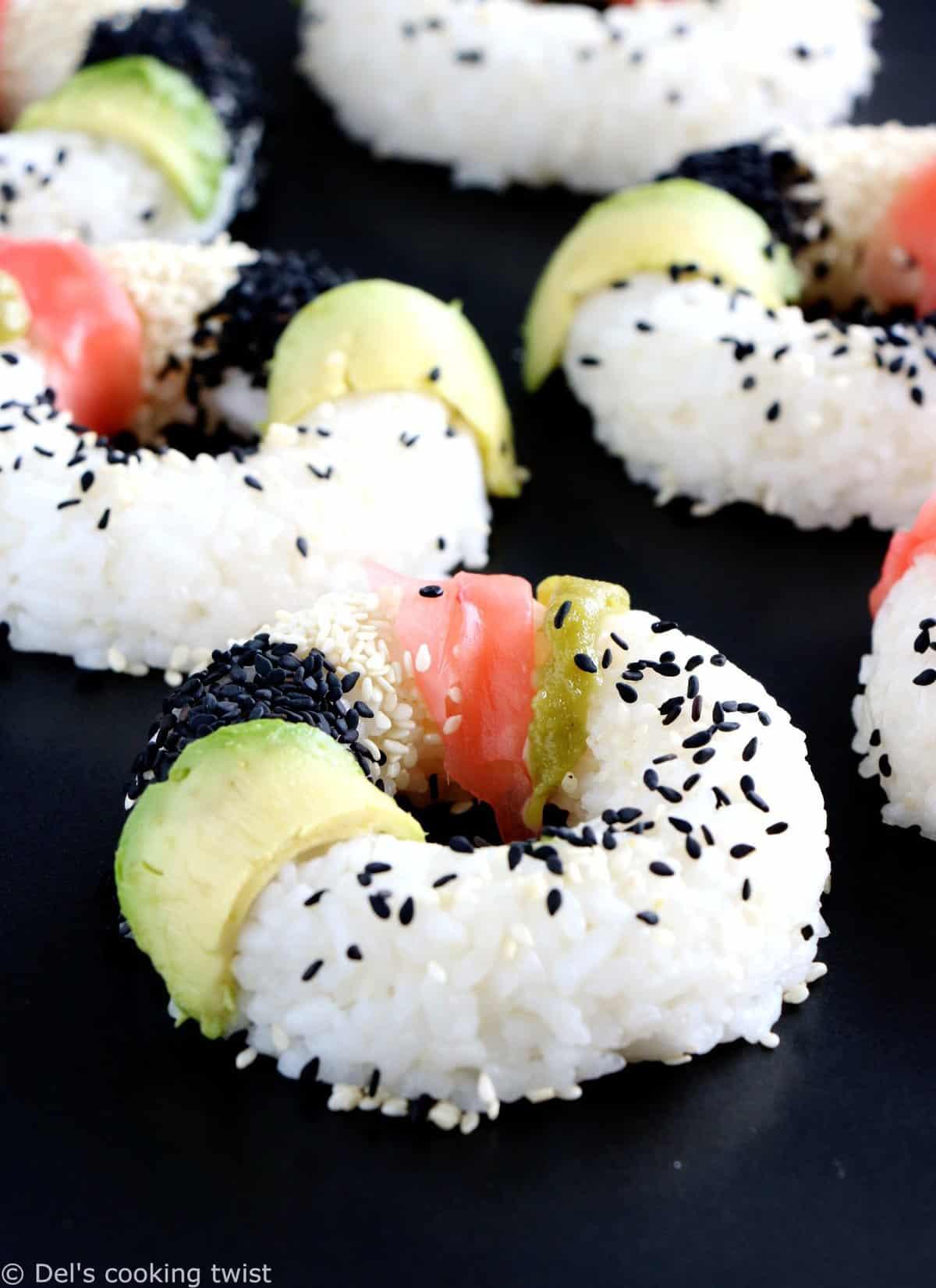 Vegan sushi donuts