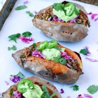 Vegan Taco Stuffed Sweet Potatoes