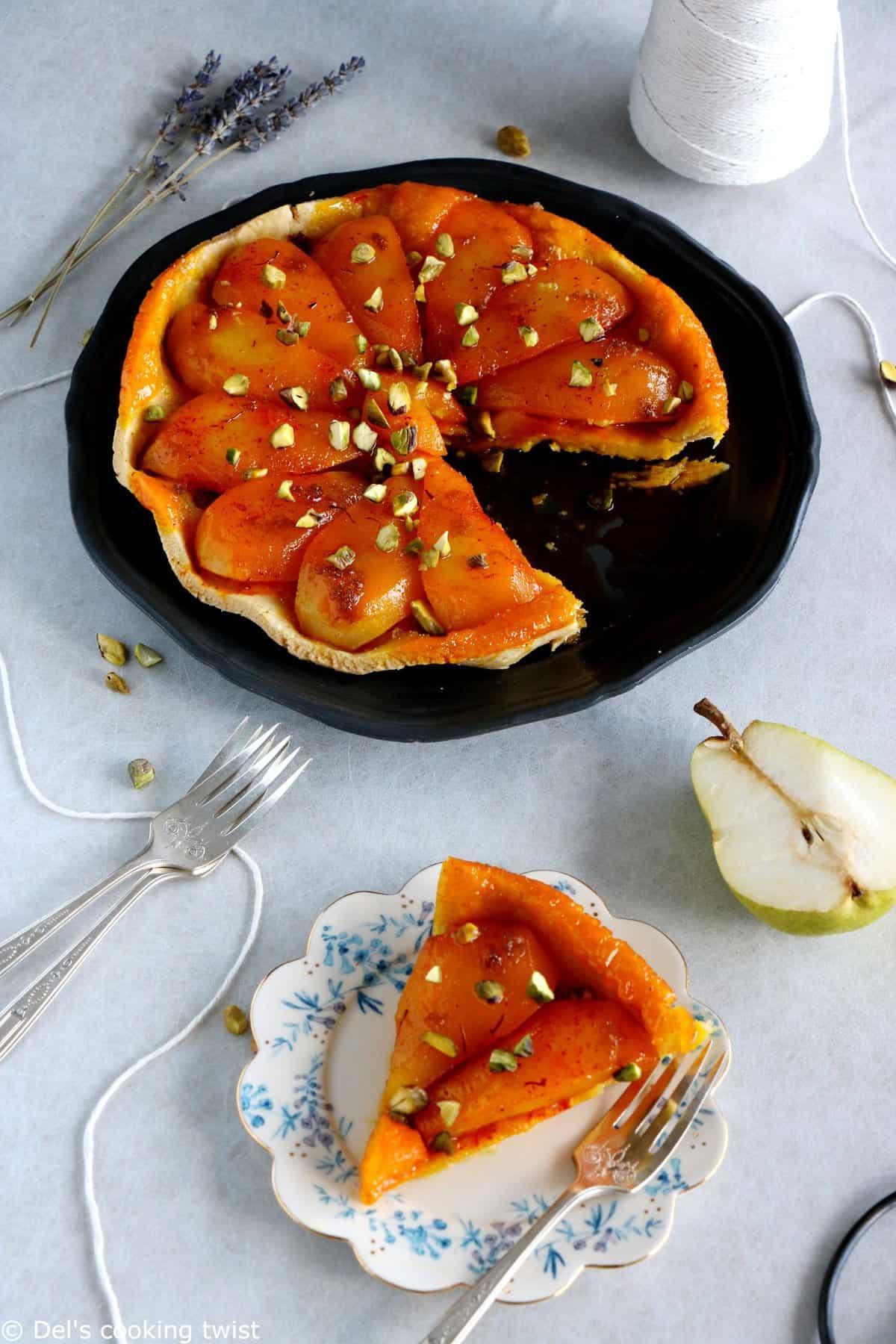 Saffron Pear Tarte Tatin