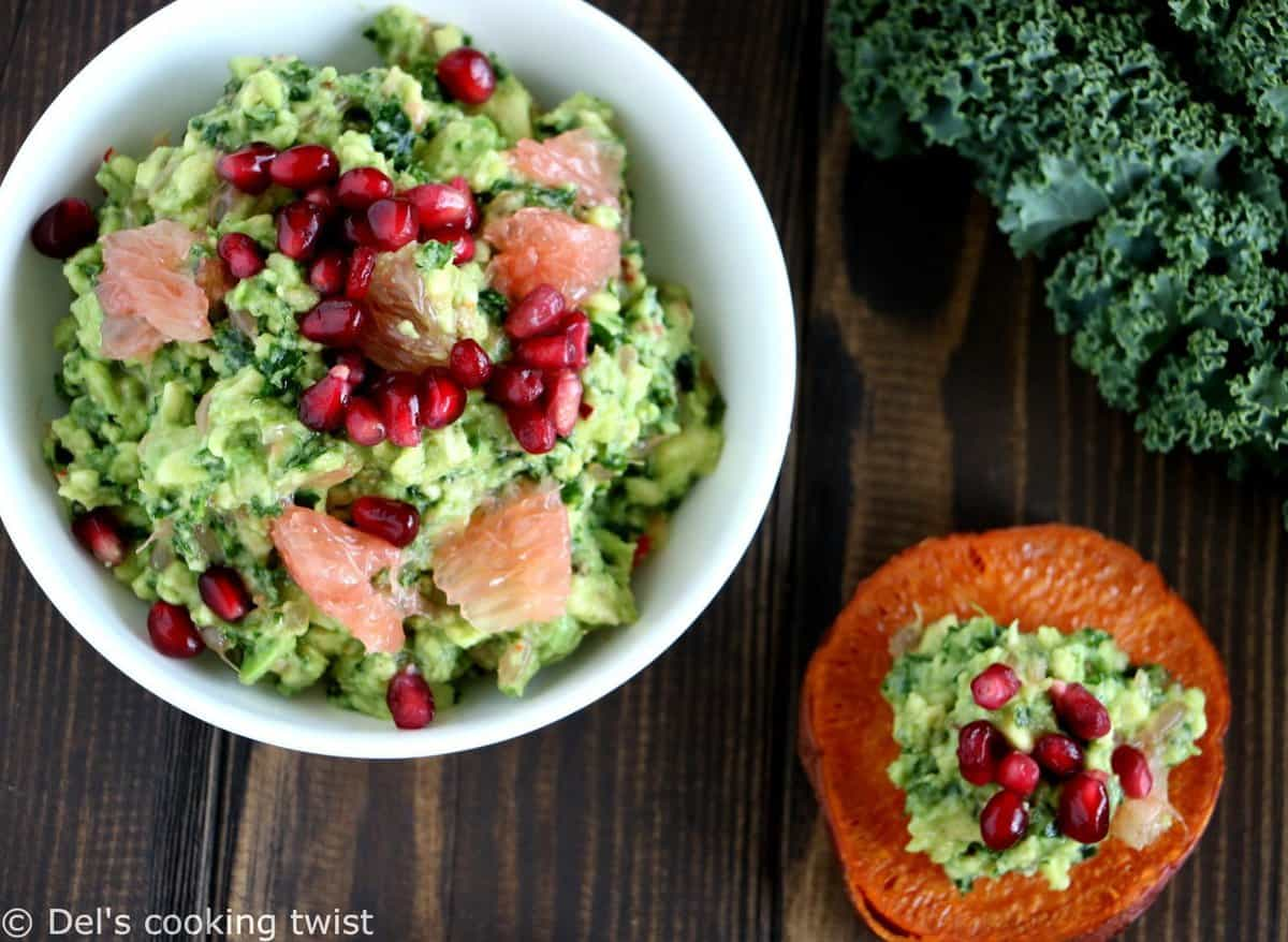 Sweet Potato Toasts with Kale Guacamole