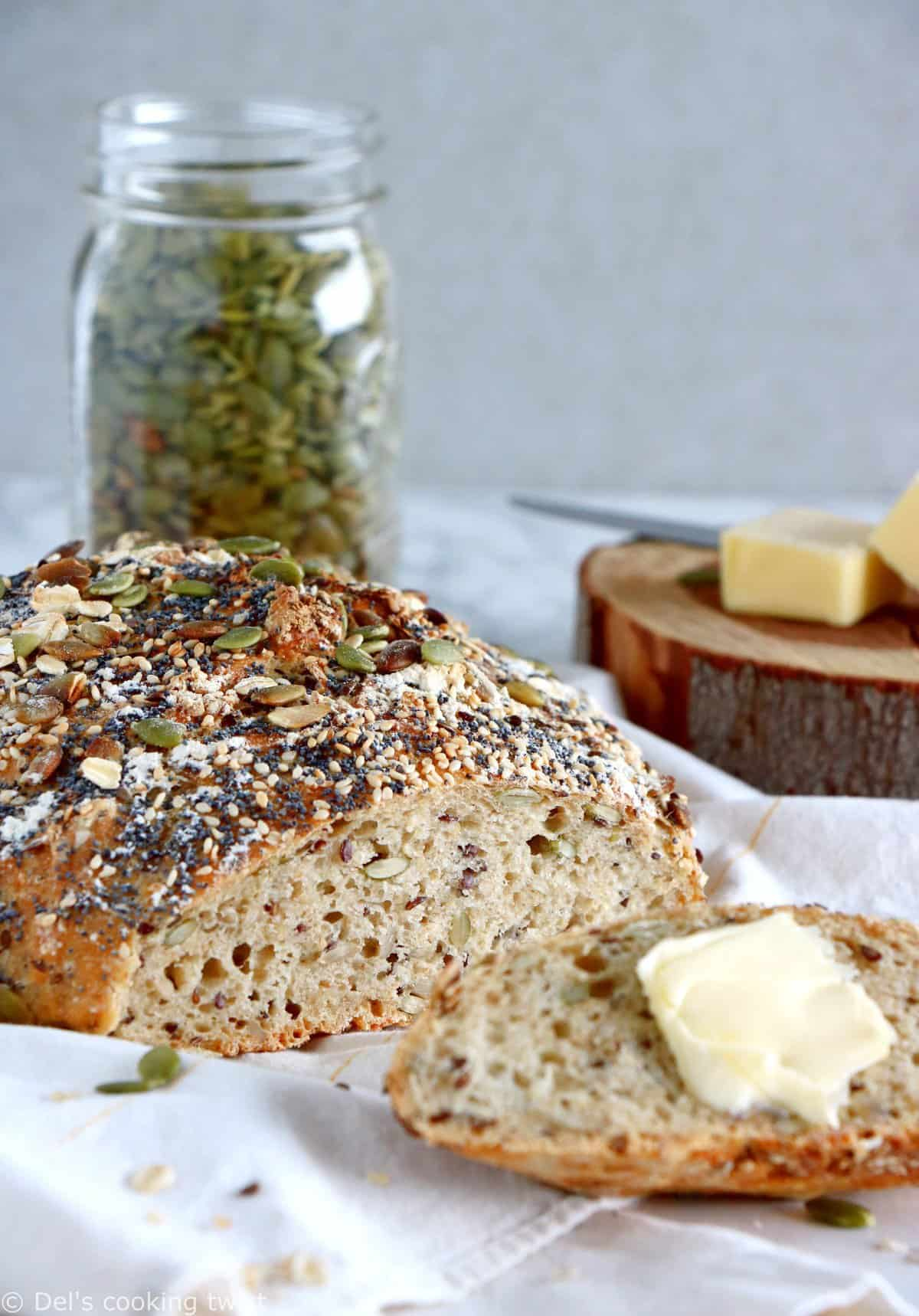 Multiseed No-Knead Bread — Del's cooking twist