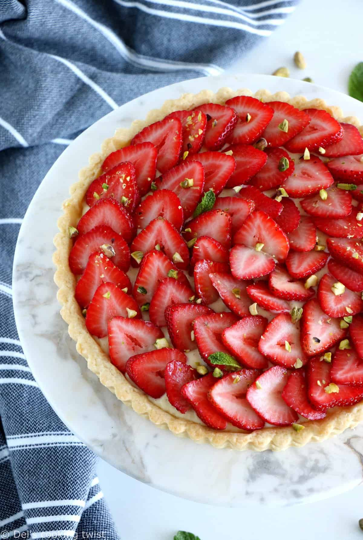 French Strawberry Tart with Pastry Cream
