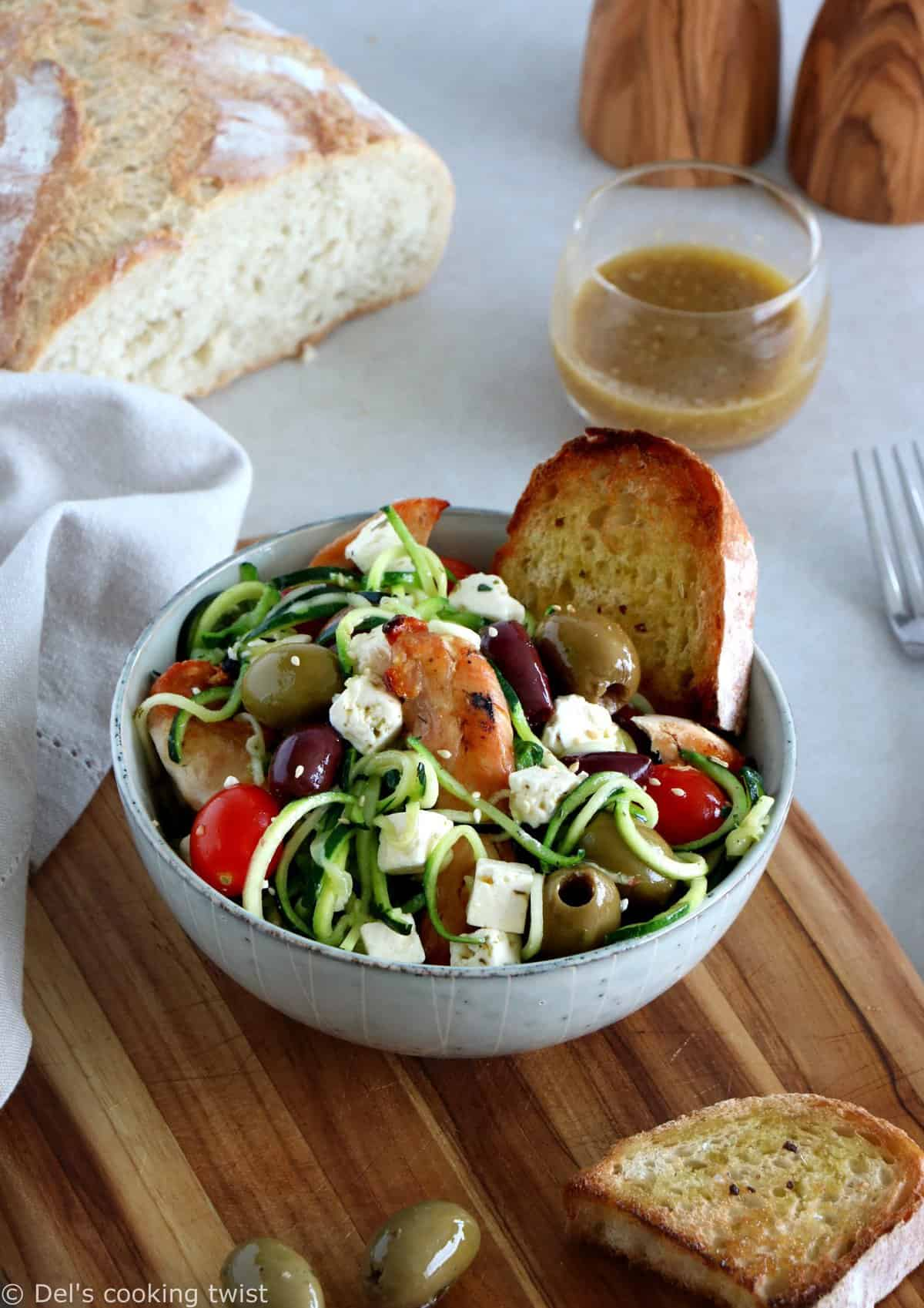 Healthy Protein-Packed Zucchini and Feta Salad