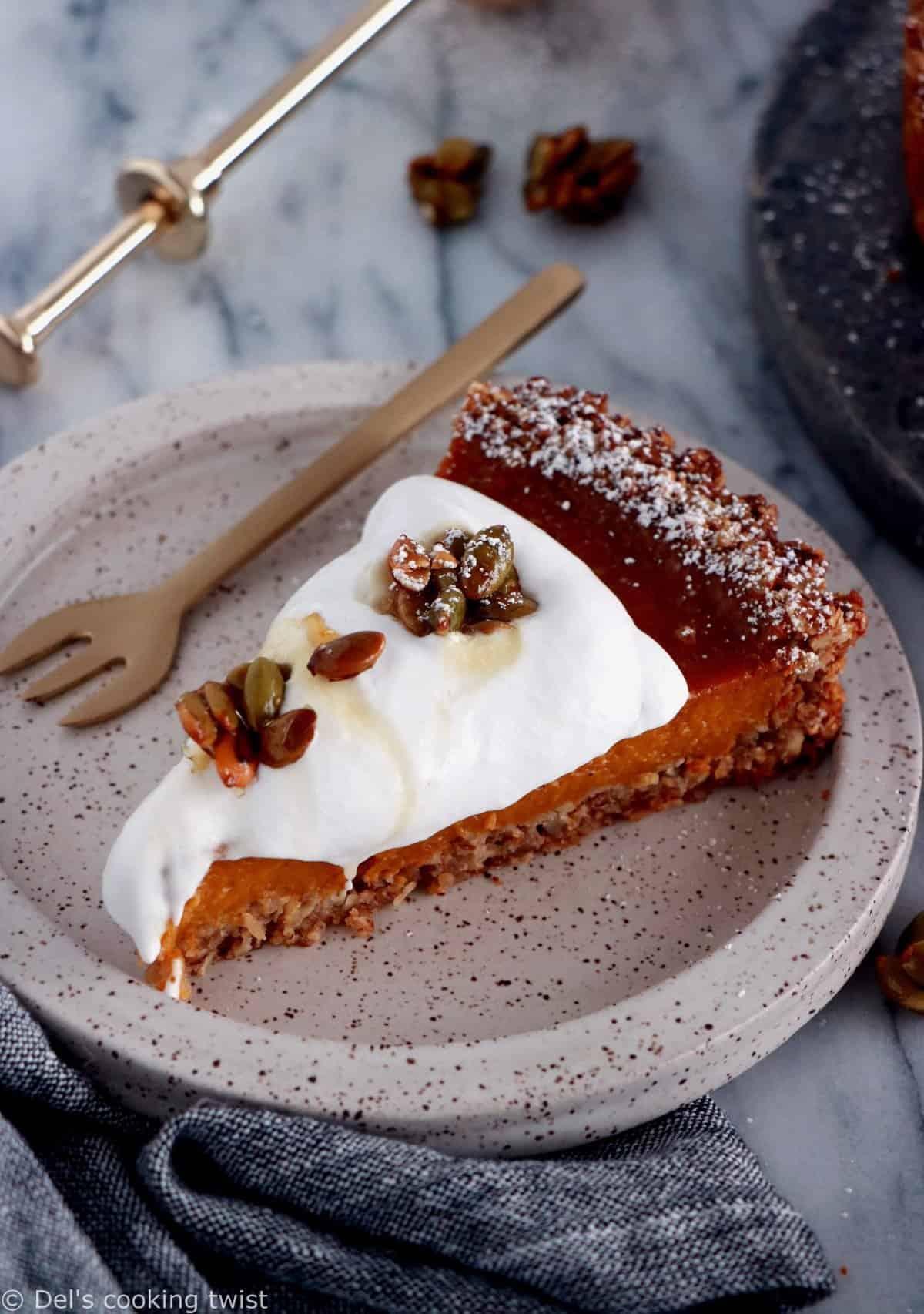 Maple Pecan Pumpkin Pie (Vegan, Gluten-Free)