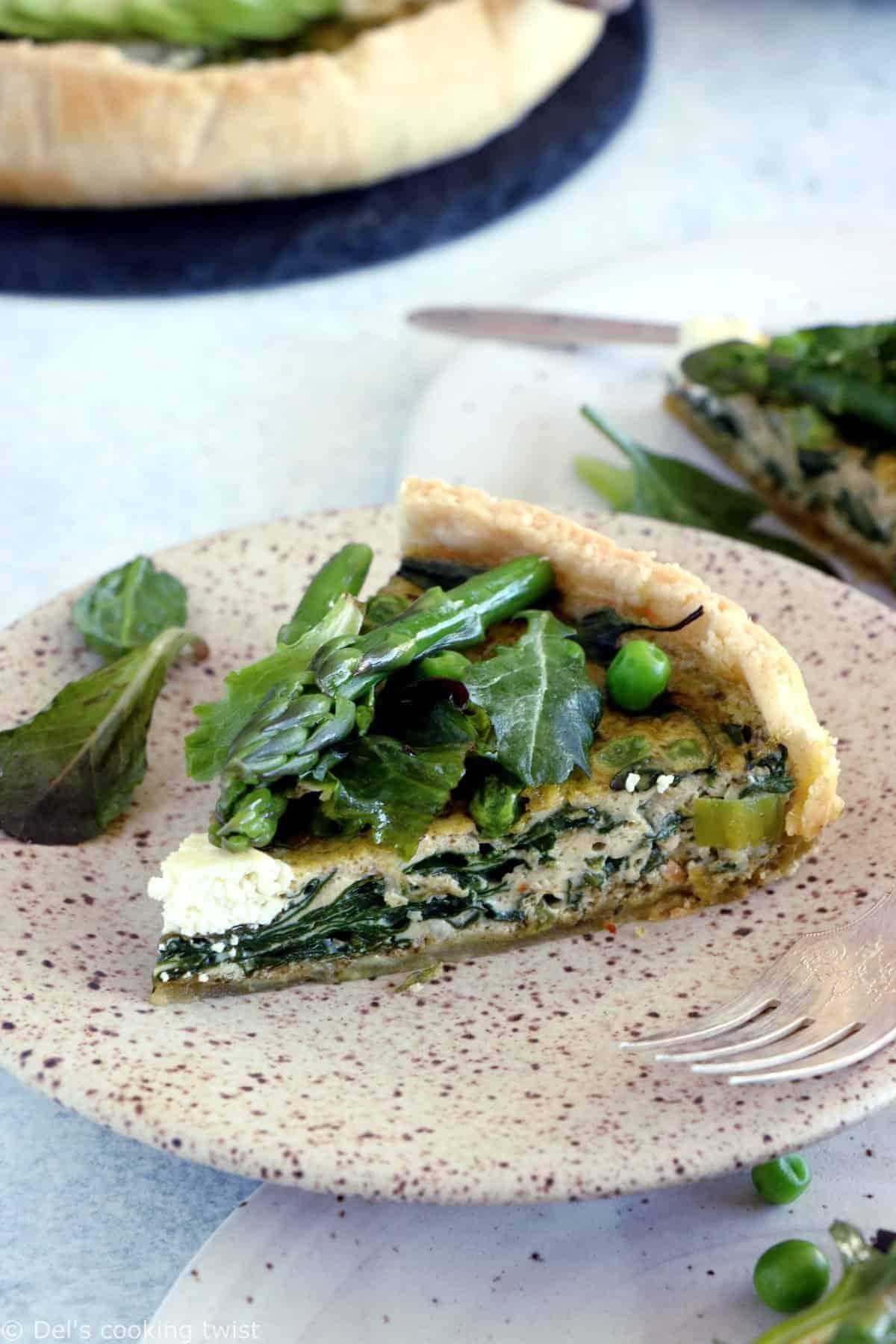 Super Green Vegetable Quiche