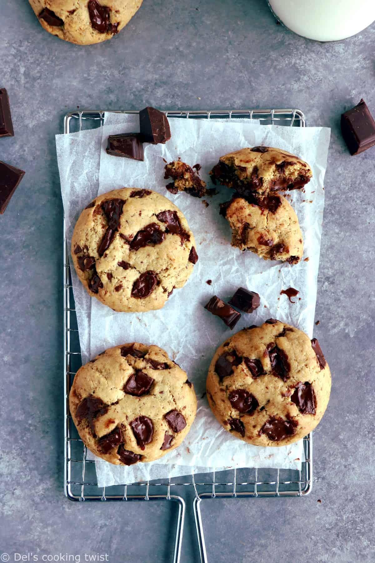 Cookies vegan aux pépites de chocolat (la recette parfaite)