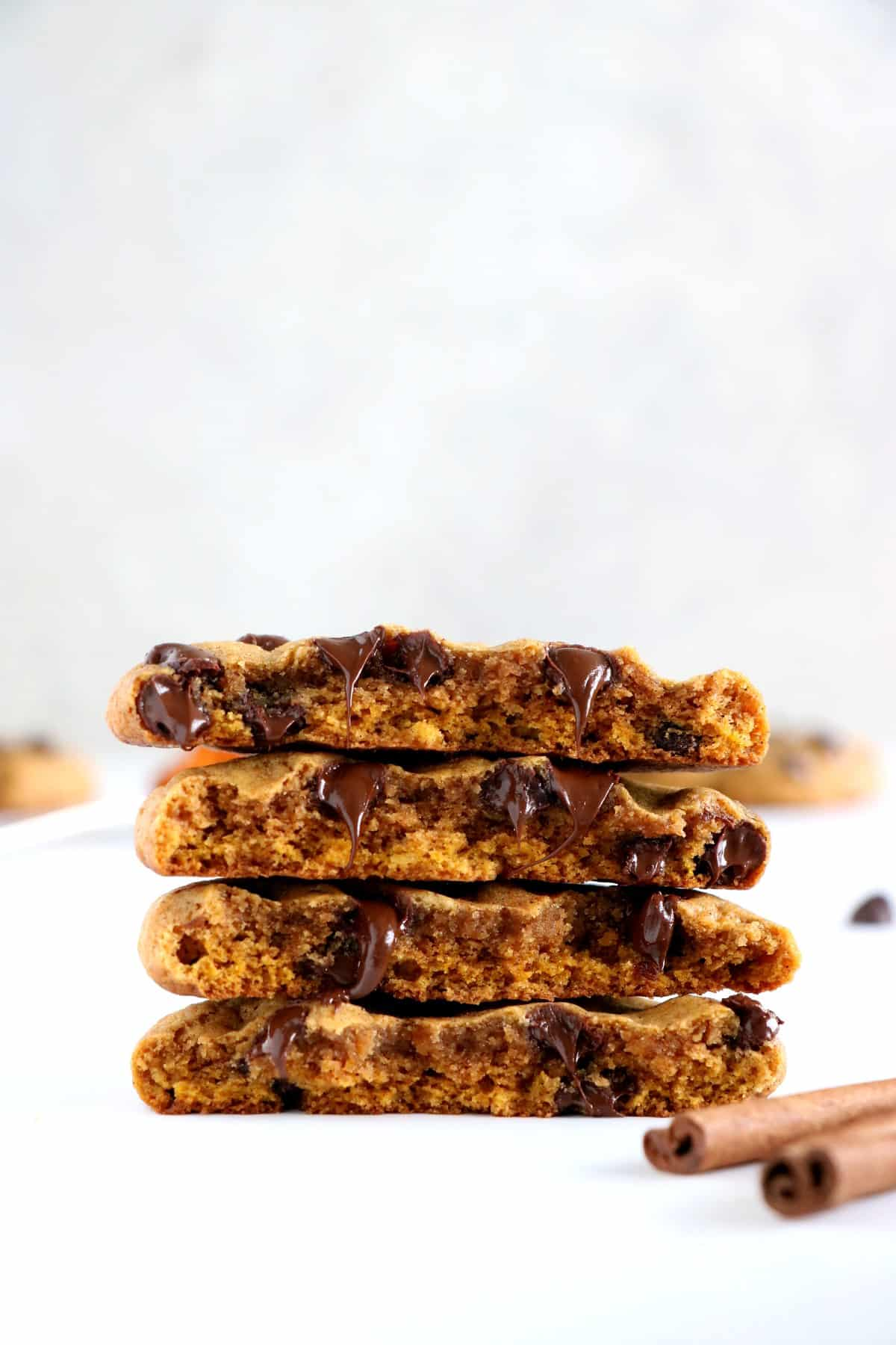 Best ever Pumpkin Chocolate Chip Cookies. Soft and chewy in texture (not cakey), loaded with chocolate chips and packed with cozy spices. A must try this fall!