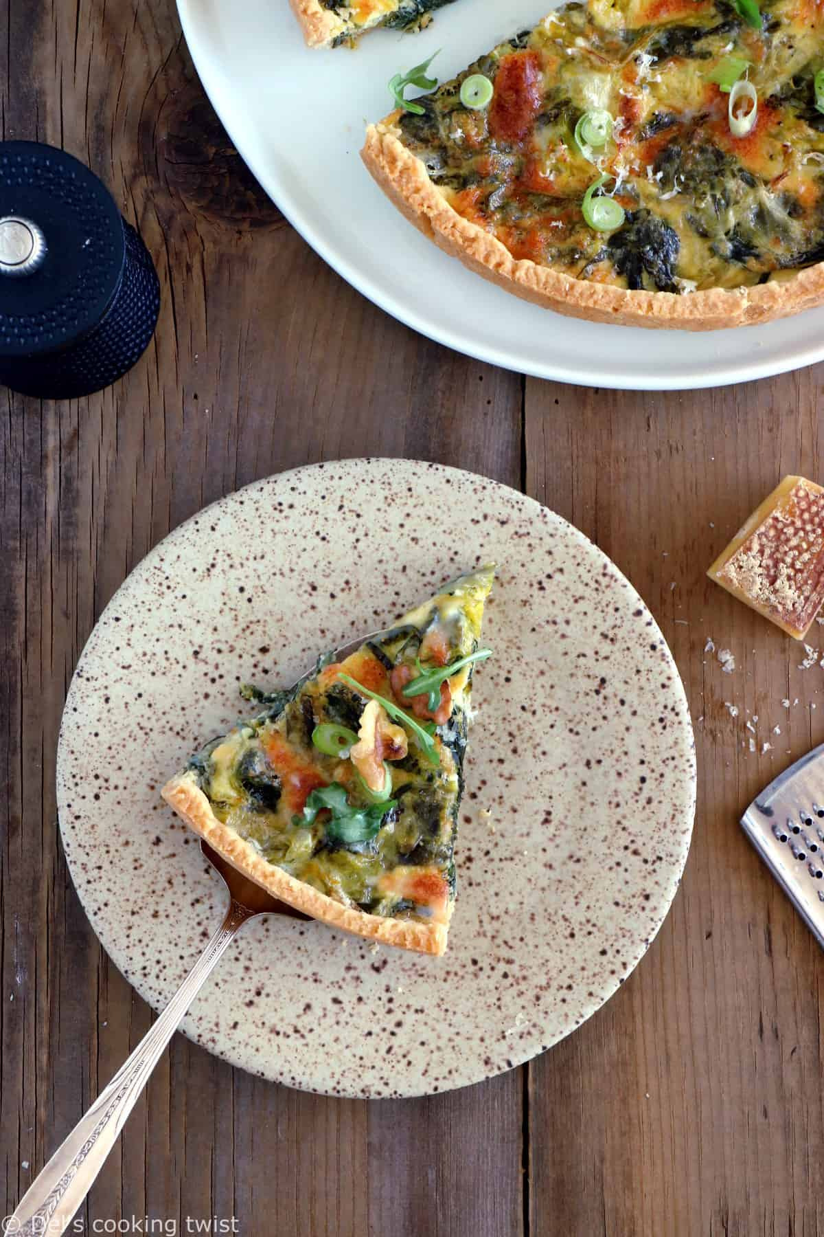 French leek quiche is a classic winter weeknight dinner in France. Plant-based and prepared with Comté cheese, this dish is full of comforting flavors.