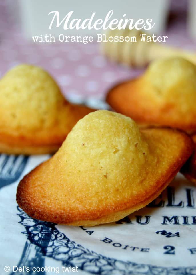 French Madeleines with Orange Blossom Water