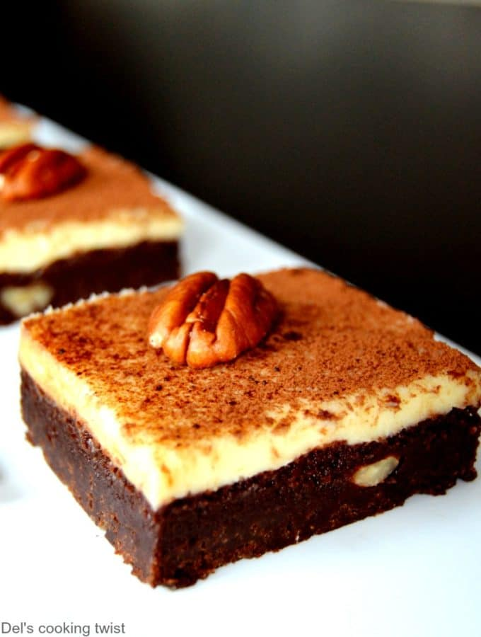 Pecan Brownie Cheesecake