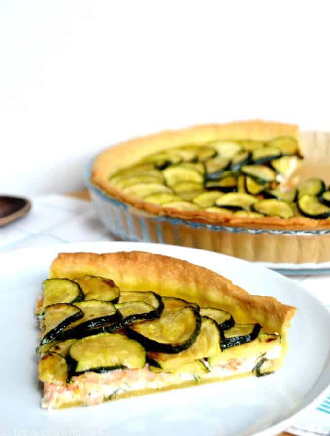 Salmon and Zucchini Ricotta Pie
